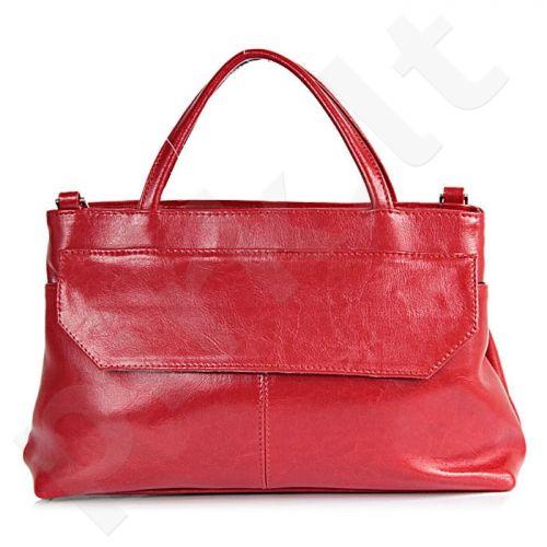 DAN-A T146 raudona rankinė, odinė, moterims