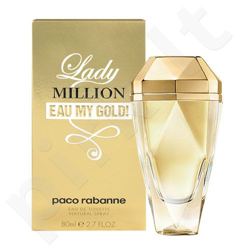 Paco Rabanne Lady Million Eau My Gold!, EDT moterims, 80ml