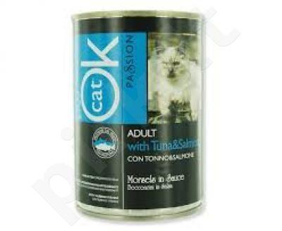 OK PASSION CAT konservai - tunas/lašiša 405 g