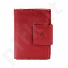 KRENIG Classic 12045 - IŠSKIRTINĖ raudona odinė piniginė, moterims