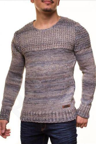 Šiltas megztinis CRSM - mėlyna-pilka 9502-3