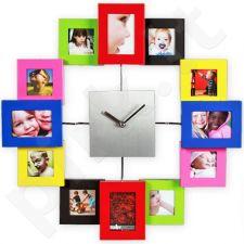 Spalvotas laikrodis - nuotraukų rėmelis