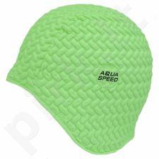 Maudymosi kepuraitė  Aqua-Speed lateksinė Bombastic Tic-Tac žalia