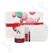 Clarins momentinis grožio rinkinys moterims, (makiažo bazė suteikianti tobulo glotnumo 15 ml + lūpų priežiūros priemonė su aliejumi 7 ml 03 + akių kontūrų pieštukas Crayon Khol 0,39 g 01 + kosmetinė)