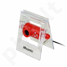 Kamera su mikrofonu Msonic USB 2.0, 3 led, MR1803R Raudonas