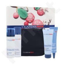 Clarins Men My Week-End pagrindinis veido priežiūros rinkinys vyrams, (drėkinamasis balzamas 50 ml + drėkinamasis valiklis 2in1 125 ml + skutimosi 50 ml + Men kovoja su nuovargiu akių serumas 10 ml + kosmetikos krepšys)