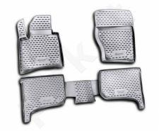 Guminiai kilimėliai 3D VW Touareg 2010->, 4 pcs. /L65043G /gray