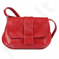 DAN-A T80 raudona rankinė, odinė, moterims