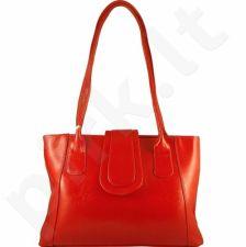 DAN-A T84A raudona rankinė, odinė, moterims