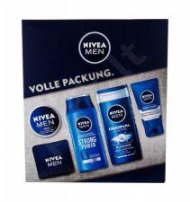 Nivea Men Original, rinkinys dušo želė vyrams, (dušo želė 250 ml + šampūnas Strong Power 250 ml + Men Creme 150 ml + Protect & Care 75 ml + Towel)