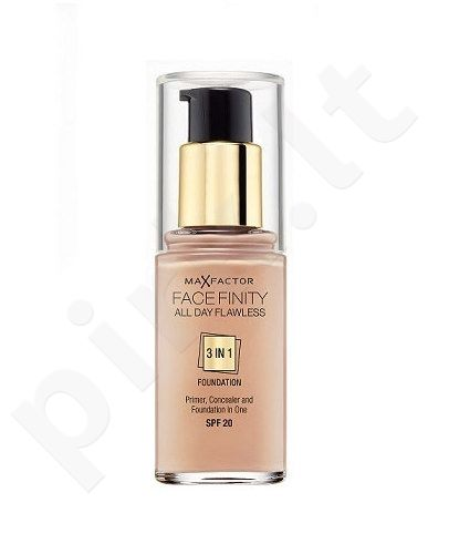 Max Factor Face Finity 3in1 kreminė pudra SPF20, kosmetika moterims, 30ml, (65 Rose Beige)