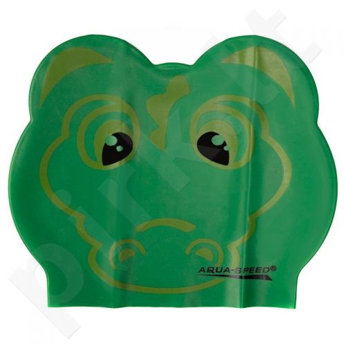 Maudymosi kepuraitė  Aqua-Speed lateksinė ZOO Crocodile Junior žalia