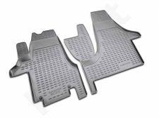 Guminiai kilimėliai 3D VW Transporter 2004-2015, 2 pcs. /L65050G /gray
