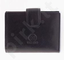 KRENIG Classic 12008 juoda piniginė iš natūralios odos, moterims