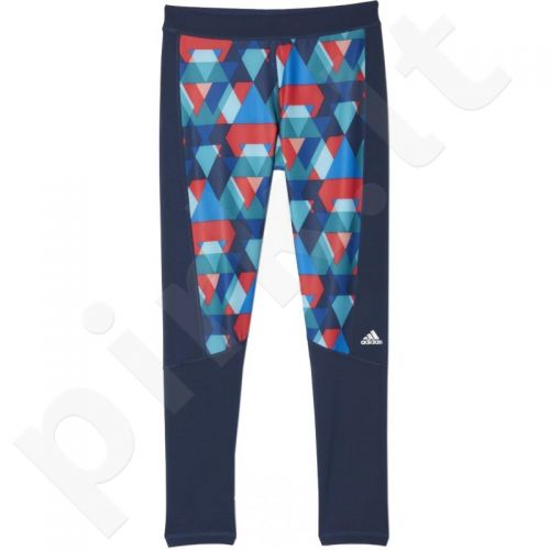Sportinės kelnės Adidas Techfit Long T Glo Triax-Print W AJ0536