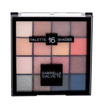 Gabriella Salvete Palette 16 Shades, akių šešėliai moterims, 20,8g