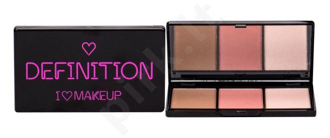 Makeup Revolution London I Heart Makeup, Definition, makiažo paletė moterims, 11g, (Medium)