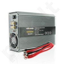 Whitenergy Inverteris AC/DC 24V automobilis) 230V, 1000W, 2 lizdai