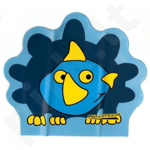 Maudymosi kepuraitė  Aqua-Speed lateksinė ZOO Dino Junior mėlynas