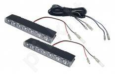 LED dienos žibintai automobiliams 12V 2vnt, po 6 LED vnt.