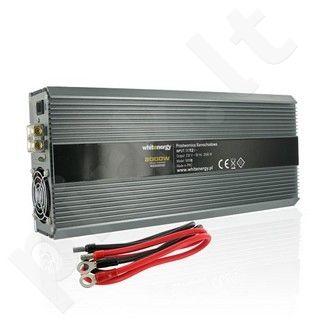 Whitenergy Inverteris AC/DC 24V (automobilis) 230V, 2000W, 2 lizdai