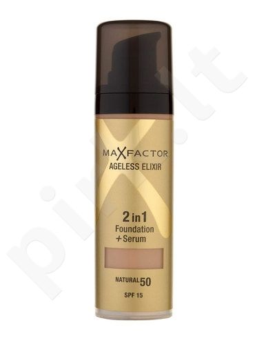 Max Factor Agelisess Elixir 2v1 Foundation + serumas SPF15, kosmetika moterims, 30ml, (45 Warm Almond)
