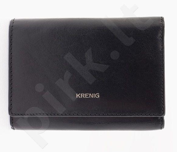 KRENIG El Dorado 11063 juoda piniginė iš natūralios odos, moterims