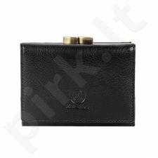 KRENIG Classic 12011 juoda piniginė iš natūralios odos, moterims