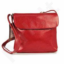 DAN-A T47 raudona rankinė, odinė, moterims