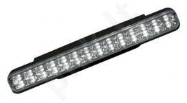 LED dienos žibintai dienos šviesos 12V 4,6W 2vnt, po 28 LED vnt. E4 Atitinka ECE R87 Aukštis - 21mm Plotis - 200mm.