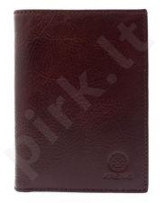 KRENIG Classic 12001 -  ruda odinė piniginė , vyrams