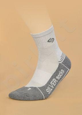 ATHLETIC DEODORANT® SILVER besiūlės kojinės su sidabro jonais intensyviai sportuojantiems (juoda/antracitas)