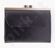 KRENIG Classic 12023 juoda piniginė iš natūralios odos, moterims