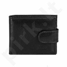 P71 juoda odinė piniginė, vyrams