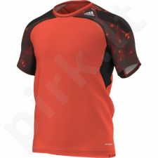 Marškinėliai treniruotėms Adidas Techfit Cool Graphic Fitted Short Sleeve Tee M S20816