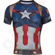 Marškinėliai kompresiniai Under Armour Compression Alter Ego Captain America M 1268262-410