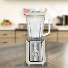 Bomann UM 1569 Blender, Stainless steel insert, Ice crusher function, 4-position selector switch, 600W, Creme/Inox