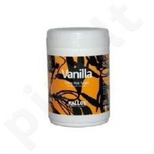 Kallos Vanilla Shine plaukų kaukė, 1000ml, kosmetika moterims