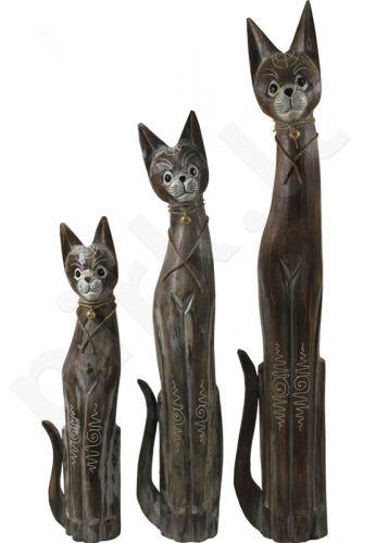 3 statulėlių rinkinys Katinai 91730