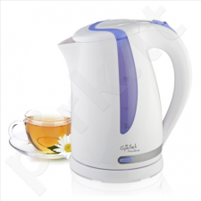 Gallet Kettle Moulins GALBOU743WP Standard kettle, Plastic, White, 2200 W, 360° rotational base, 1.7 L