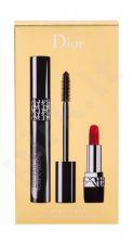 Christian Dior Pump´N´Volume, Diorshow, rinkinys blakstienų tušas moterims, (blakstienų tušas 6 g + lūpdažis Mini Rouge 999 1,5 g), (090 Black Pump)