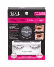 Ardell Demi Wispies, Magnetic Liner & Lash, rinkinys dirbtinės blakstienos moterims, (Magnetic Lashes Demi Wispies 1 pair + Magnetic želė Line 2 g Black + Liner Brush 1 pc), (Black)