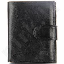 P40A juoda odinė piniginė, vyrams