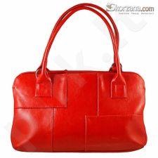 DAN-A T171 raudona rankinė, odinė, moterims