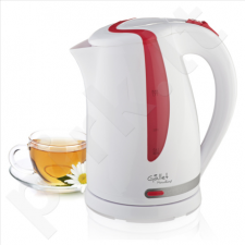 Gallet Kettle Moulins GALBOU743WR Standard kettle, Plastic, White, 2200 W, 360° rotational base, 1.7 L