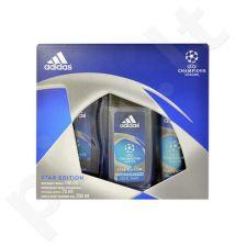 Adidas UEFA Champions League Star Edition rinkinys vyrams, (dezodorantas 150ml + 250ml dušo želė + 75ml dezodorantas) [pažeista pakuotė]