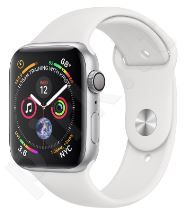 APPLE WATCH SER.4 40MM SILVER, BAND WHITE