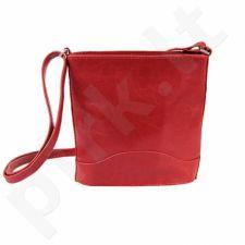 DAN-A T210 raudona rankinė, odinė, moterims