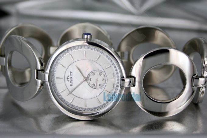 Moteriškas laikrodis BISSET Hicory Steel BS25B34 LS WH