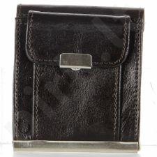 P161 šokolado spalvos odinė piniginė, vyrams